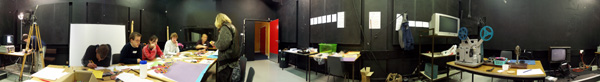 panoramic image of workshop for adult during Animated Exeter